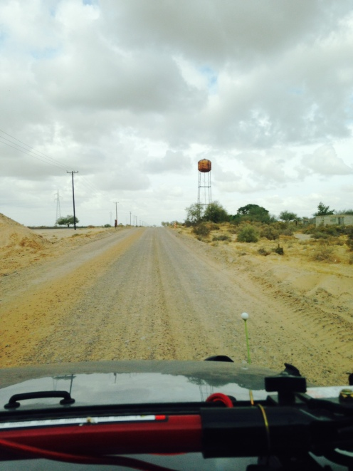 Dusty bumpy road in Norther Mexico