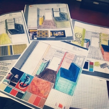 color schemes. Finally putting my time in design school to good use!