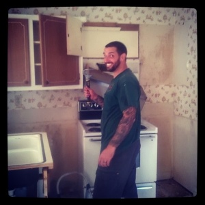 The old kitchen mid-tear-down